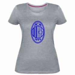 Жіноча стрейчева футболка AC Milan logo