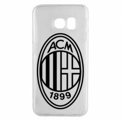 Чохол для Samsung S6 EDGE AC Milan logo