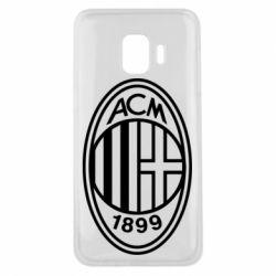 Чохол для Samsung J2 Core AC Milan logo