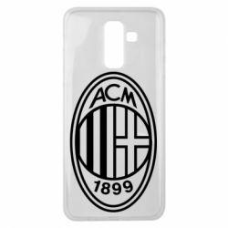 Чохол для Samsung J8 2018 AC Milan logo