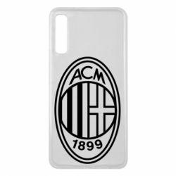 Чохол для Samsung A7 2018 AC Milan logo