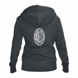 Жіноча толстовка на блискавці AC Milan logo