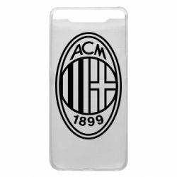 Чохол для Samsung A80 AC Milan logo