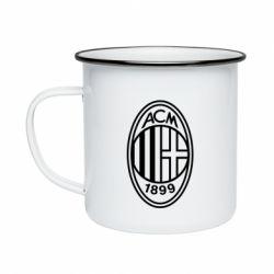 Кружка емальована AC Milan logo