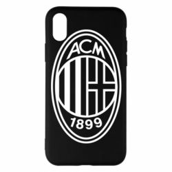 Чохол для iPhone X/Xs AC Milan logo