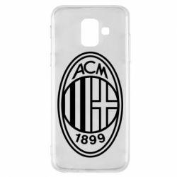 Чохол для Samsung A6 2018 AC Milan logo