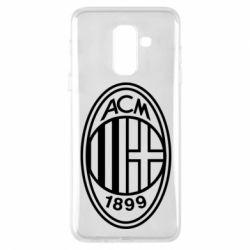 Чохол для Samsung A6+ 2018 AC Milan logo