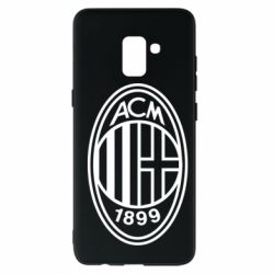 Чохол для Samsung A8+ 2018 AC Milan logo