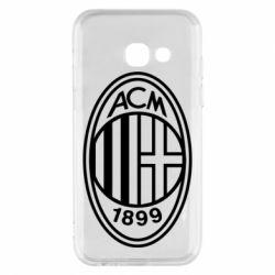 Чохол для Samsung A3 2017 AC Milan logo