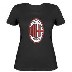 Женская футболка AC Milan - FatLine