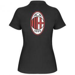 Женская футболка поло AC Milan - FatLine