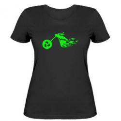 Женская футболка Аццкий байк - FatLine
