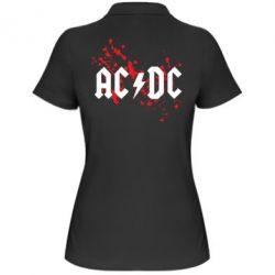 Женская футболка поло ACDC - FatLine