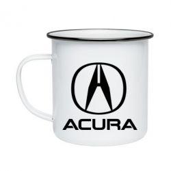 Кружка емальована Acura logo 2