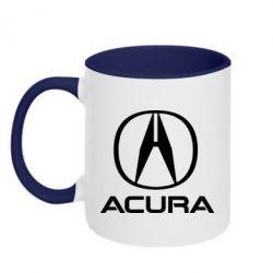 Кружка двоколірна 320ml Acura logo 2