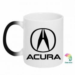 Кружка-хамелеон Acura logo 2