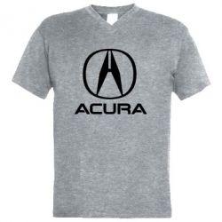 Чоловіча футболка з V-подібним вирізом Acura logo 2
