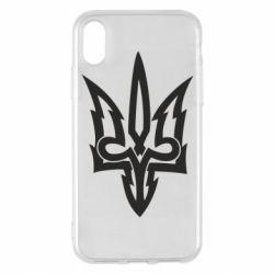 Чохол для iPhone X/Xs Acute coat of arms of Ukraine