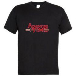 Чоловіча футболка з V-подібним вирізом Advencher Time and Wood Stake
