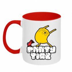 Кружка двоколірна 320ml Adventure time 2