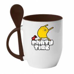 Кружка з керамічною ложкою Adventure time 2