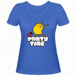 Жіноча футболка з V-подібним вирізом Adventure time 2