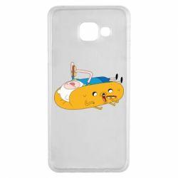 Чехол для Samsung A3 2016 Adventure time 4