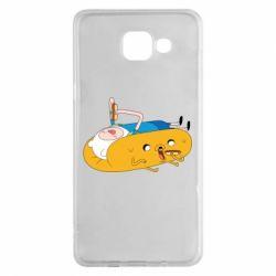 Чехол для Samsung A5 2016 Adventure time 4
