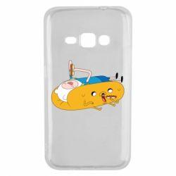 Чехол для Samsung J1 2016 Adventure time 4