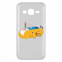 Чехол для Samsung J2 2015 Adventure time 4