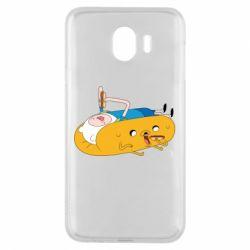 Чехол для Samsung J4 Adventure time 4