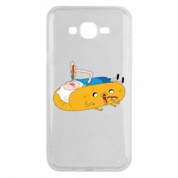 Чехол для Samsung J7 2015 Adventure time 4