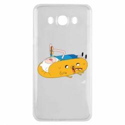 Чехол для Samsung J7 2016 Adventure time 4
