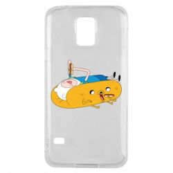 Чехол для Samsung S5 Adventure time 4