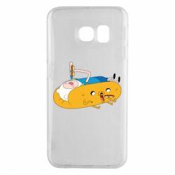 Чехол для Samsung S6 EDGE Adventure time 4