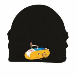 Шапка на флисе Adventure time 4
