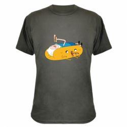Камуфляжная футболка Adventure time 4