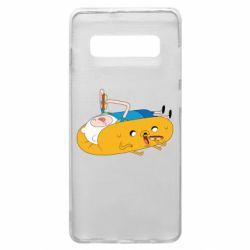 Чехол для Samsung S10+ Adventure time 4