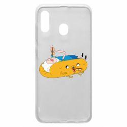 Чехол для Samsung A20 Adventure time 4