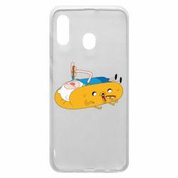 Чехол для Samsung A30 Adventure time 4