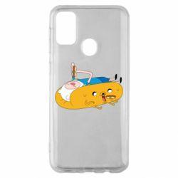 Чехол для Samsung M30s Adventure time 4
