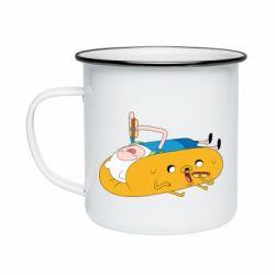 Кружка эмалированная Adventure time 4