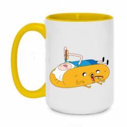 Кружка двухцветная 420ml Adventure time 4