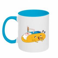 Кружка двухцветная 320ml Adventure time 4