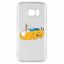 Чехол для Samsung S7 Adventure time 4