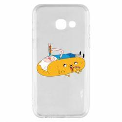 Чехол для Samsung A3 2017 Adventure time 4