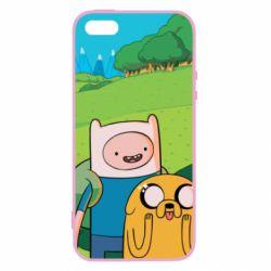 Купить Время приключений, Чехол для iPhone5/5S/SE Adventure Time, Finn and Jake, FatLine