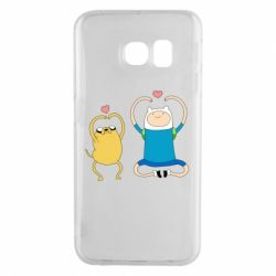 Чохол для Samsung S6 EDGE Adventure time
