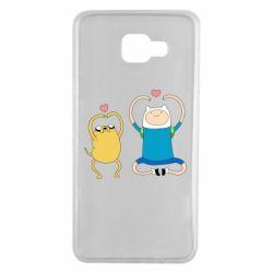 Чохол для Samsung A7 2016 Adventure time