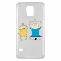 Чохол для Samsung S5 Adventure time
